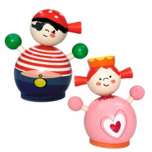 Wooden Money Box – Princess and Pirate