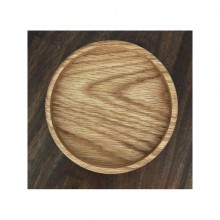 Wooden coaster made of solid oak wood – 2 pieces