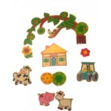 Farm – wooden mobile