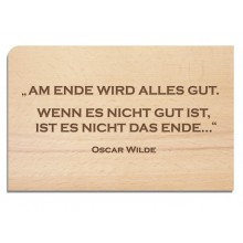 Wooden Postcard END – Oscar Wilde