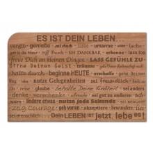 """Wooden Postcard """"Es ist Dein Leben"""" (It is your life)"""