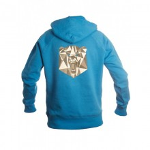 Bear electric blue Men Hoodie