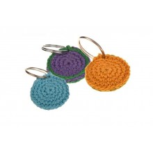 Crocheted Dog Tag Case QUIET TIME