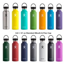 Hydro Flask Insulated Stainless Steel Bottle 21 oz Standard Mouth with Flex Cap