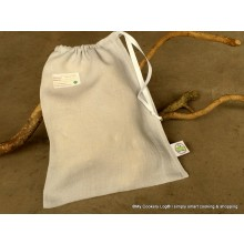 Reusable MCL® I Cheese Bags made of linen for storage of hard cheese like Parmesan (Set: 2 Bags)