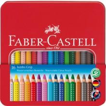 Jumbo Grip Crayon, Set of 16 in metall case