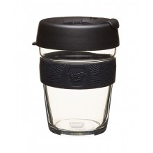 KeepCup Brew Black – Reusable Cup made of Glass for Coffee & Espresso