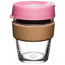 KeepCup Cork Saskatoon 12 oz – Refillable Cup made of Glass with Natural Cork Band