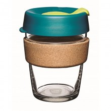 KeepCup Cork Turbine 12 oz – Refillable Cup made of Glass with Natural Cork Band
