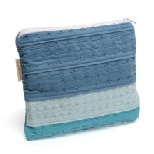 Etui, Pencil Case, Pouch »Kim« made of recycled bra stapling straps