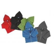 Plain Fleece Hooded Jacket from Eco Merino-Wool
