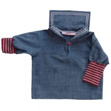 Kids Sailor Shirt, Jeans, Organic Cotton