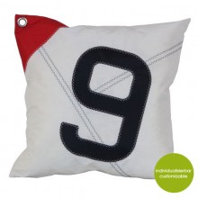 Scatter Cushion Sail Boat 9 or 6 made of sailcloth (recycled or new) 50x50 cm – customizable