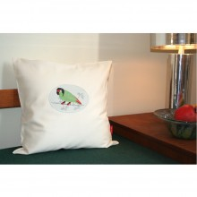 Pillowcase Dreamy Parrot made of Organic Cotton Satin without or with pillow 40x40 cm