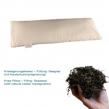 Knee pillow with Seaweed with natural rubber impregnation in organic cotton cover