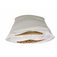Combined 2-Chamber Pillow – Organic Spelt Husks & Millet Husks with Natural Rubber 40x80 cm