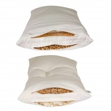 Combined 2-Chamber Pillow, optional with Spelt Husks, Millet Husks or Wool Beads