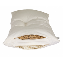 Combined 2-Chamber Pillow – Wool Beads & Organic Millet Husks with Natural Rubber 40x60 cm