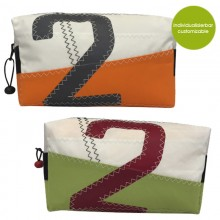 Recycled Canvas Toilet Bag »Sail Boat 2« – customizable design