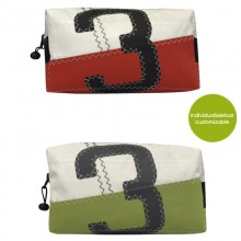 Toilet Bag »Sail Boat 3« made of recycled sailcloth or new canvas – customizable design