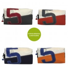 Toilet Bag »Sail Boat 5« made of recycled sailcloth or new canvas – customizable design