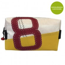 Toilet Bag »Sail Boat 8« made of recycled sailcloth or new canvas – customizable