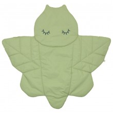 Dragonfly Alma Quilted Organic Cotton Play Mat, green