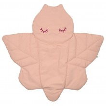 Dragonfly Alma Quilted Organic Cotton Play Mat, rose