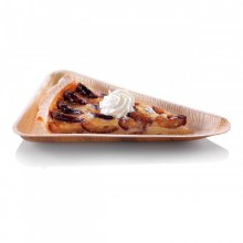 "Dessert Plate ""Triangle"" made of palm leaf naturesse®"