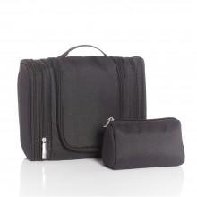 Hanging Toilet Bag, black, incl. cosmetic bag