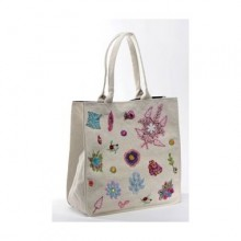 Large Shopper Sophie Cream in Recycled Cotton
