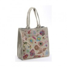 Large Shopper Sophie Khaki in Recycled Cotton