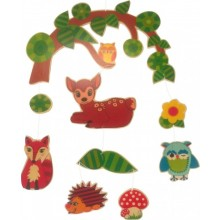 Forest Animals Mobile – wooden mobile