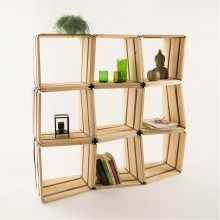 MOVEO. LXXX Upcycled shelf module 9 pack