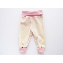 Baby Bloomers of Organic Plush Cotton Natural-Rose