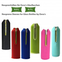 Neoprene Sleeve, plain, for Dora's Glass Bottle 0.5 l & 0.7 l