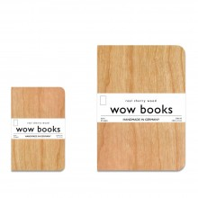 Notebook with genuine cherrywood veneer cover