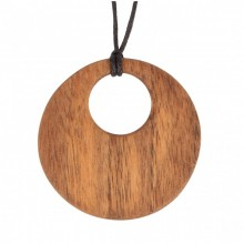 Necklace with Ornament of Walnut Wood