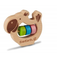 EverEarth® Papagei Baby Greifring - FSC® Holzspielzeug