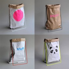 Paper Bag Holder in Various Colors