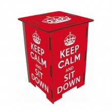 Photo Storage Stool KEEP CALM & Side Table