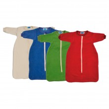 Organic Cotton Plush Sleeping Bag with Sleeves in different colours and sizes