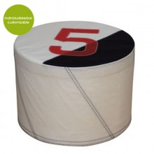 Pouf »Sail Boat 5« made of (recycled or new) canvas – customizable