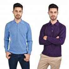 Alpaca Polo-Shirt Renzo, Longsleeved, 100% Baby Alpaca for Men