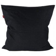 Pure Black Pillowcase of Certified Organic Cotton, 80x80 cm