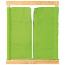 Montessori Zipping Frame made of wood and fabrics