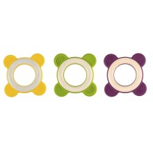 Wooden Grabbing Toy and Teething Ring RINGO various colours