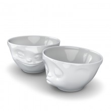"Medium Bowls ""Grinning & Kissing"" 2-part"