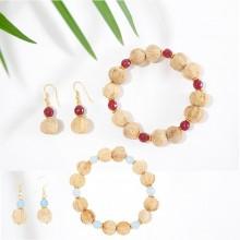 BEEJIKA Jewellery Set SUMMER – Bracelet & Earrings achat & natural seed pearls