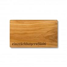 Bavaria for you Cutting Board made of Cherry Wood, with Engraving einstückbayernfüadi
